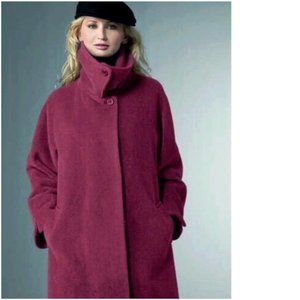 HILARY RADLEY Suri Alpaca Wool Swing Coat Jacket 6